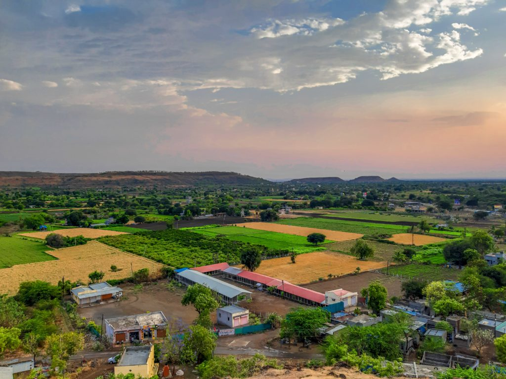 Picture of a landscape in rural India