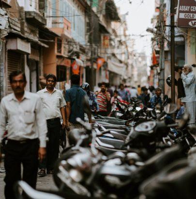A small urban street in urban India