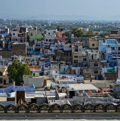 Urban landscape in Udaipur, India