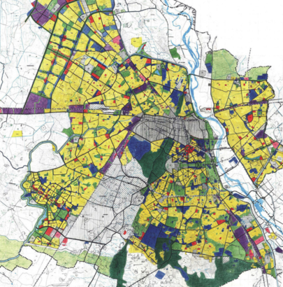 planning map of Delhi, India
