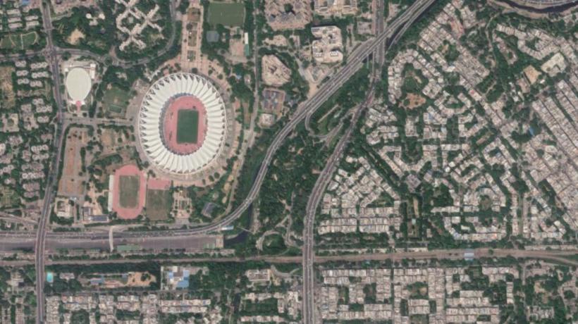 Satellite image of JLN Stadium