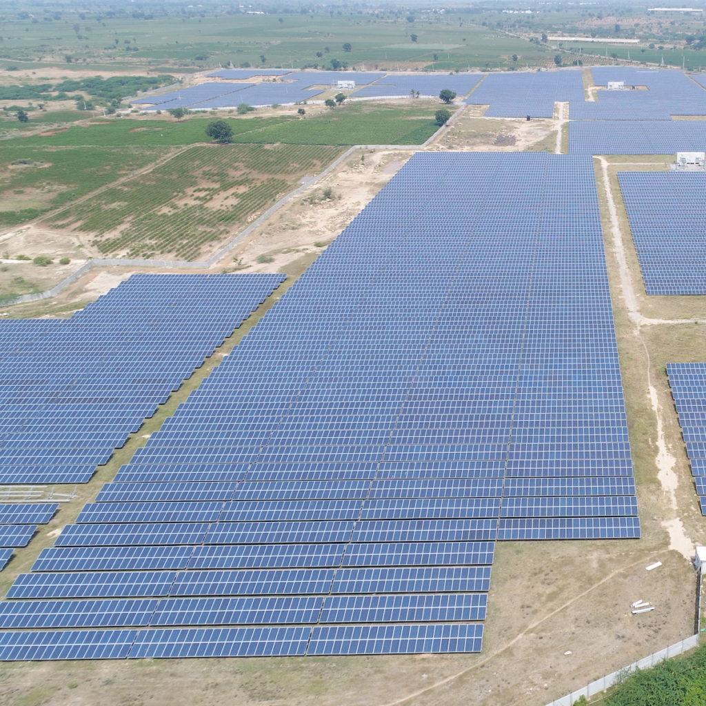 Solar power plant in Telangana India